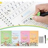 Gigilli Magic Practice Copybook for Kids, Reusable Magic Calligraphy Tracing Handwriting Copybook Set, English Version Writin