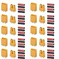 AUTOUTLET XT30コネクター 20PCS 10ペア XT30 コネクタープラグ RCカー/ボート/リポバッテリ…