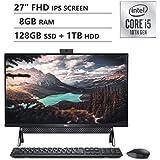"Latest_Dell Inspiron 7000 All-in-One 27"" FHD Display Desktop, 10th Generation Intel Core i5-10210U Processor, 8GB Memory, 128"