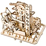 ROBOTIME 3D Wooden Model Kit Marble Run Toy Craft Model Building Set  Adults & Kids Tower Coaster