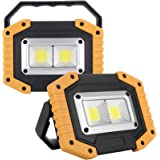UNIKOO Rechargeable Work Light COB 30W 1500LM, Waterproof LED Portable Flood Light for Outdoor Camping Hiking Emergency Car R