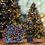25M 200LED String Solar Powered Fairy Lights Garden Christmas Decor Multi Colour Multi-Coloured 25m/200LED