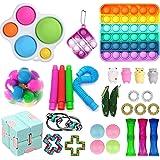 30Pcs Sensory Fidget Toys Pack, Anti-Stress Fidget Toy Set, Stress Relieve Toy Set for Kids Adults