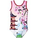 BAOHULU Metallic Gymnastics Leotard Toddler Girls Sparkle Black Rose Long Sleeve Dance Outfit
