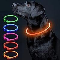 犬光る首輪 視認距離500mで夜間も安心 犬 猫 光る 首輪 ライト 夜 散歩USB 充電式 小型犬 中型犬 大型犬 サ…