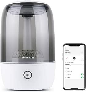 SwitchBot Wi-Fi スマート加湿器 3.5L 大容量 除菌 アロマディフューザー 超音波式 アレクサ、Google Home、HomePod、IFTTT に対応