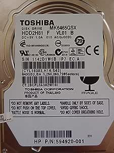 東芝 MK6465GSX 640GB 9.5mm 2.5インチ SATA300 HDD バルク品