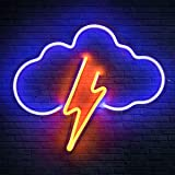 Koicaxy Neon Sign, Cloud Led Neon Light Wall Light Led Wall Decor, Battery or USB Powered Light Up Acrylic Neon Sign for Bedr