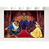7x5ft Beauty and the Beast Party Supplies Photography Backdrops Palace with Golden Chandelier Princess Birthday Party Girl Ba
