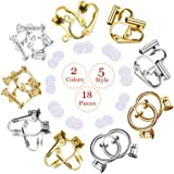 Clip-on Earrings Converter Components with Post for Non-Pierced Ears DIY Comfort Earring Padsfor Women or Girls 2 Colors 5 S