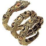 Christineen Women's Stretch Snake Bracelets Fit Wrist 17CM to 21CM - Lead & Nickle Free - Halloween Costume Accessories Jewel