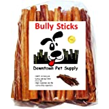 6 Bully Sticks - Free Range Standard Regular Thick Select 6 inch (10 Pack) by Downtown Pet Supply