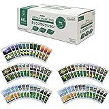 [Amazon限定ブランド] ここちバス バスクリン 入浴剤 アロマスパークリング 世界遺産イメージアロマ 12種 60包入り 個包装 詰め合わせ