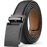 KAERMU ベルト メンズ ビジネス,オートロック式 無段階調節 穴無 紳士 フォーマル ベルト サイズ調節可能 箱付き 3.0CM