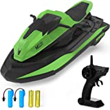 Remote Control Boat, 1:14 Scale 2.4Ghz High Speed RC Racing Boats for Pools and Lakes, Dual Motor, Low Battery Alarm, Speed S