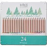 トンボ鉛筆 色鉛筆 S木物語 24色 缶入 CB-RS24C