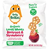 Baby Bellies Lentil Wheels, Beetroot & Strawberry, 0.42 Ounce Bag, (Pack of 6)