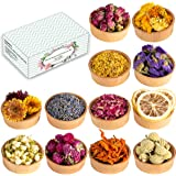 Dried Flowers, 12 Pack Natural Dried Flower Herbs Kit for Bath, Bomb, Soap, Resin, Candle Making, Include Rose Petals, Rosebu