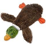 Best Pet Supplies, Inc. 2-in-1 Fun Skin Stuffless Dog Squeak Toy, Small, Wild Duck