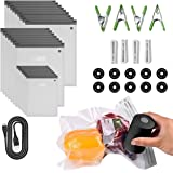 Sous Vide Bags 56 PCS Electric Vacuum Sealer - 35 Reusable Vacuum Food Storage Bags for Anova and Joule Cookers - 3 sizes Sou