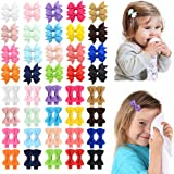 80pcs 2 Inches Baby Girls Hair Bows Alligator Clips Grosgrain Ribbon Mini Hair Barrettes Hair Accessories for Kids Toddlers G
