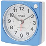 CASIO(カシオ) 目覚まし時計 電波 ブルー アナログ ミニサイズ ライト 付き TQ-750J-2JF