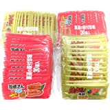 菓道 蒲焼さん太郎(60枚:2袋分)+ 焼肉さん太郎(60枚:2袋分)の2種(計120枚)セット ミニシール付き