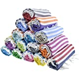 Sale Set of 6 XL Turkish Cotton Bath Beach Spa Sauna Hammam Yoga Gym Hamam Towel Fouta Peshtemal Pestemal Blanket - Set of 6