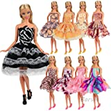 Barwa Dresses for 11.5 Inch 28 - 30 cm Dolls 5 Sets Random Styles Short Clothing Dresses Clothes for Doll