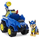 PAW Patrol, Dino Rescue Chase's Deluxe Rev Up Vehicle with Mystery Dinosaur Figure