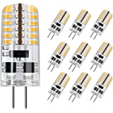 DiCUNO G4 LED Light Bulb, 10-Pack, 3 Watt, Non-dimmable, 230 Lumen, Warm White 3000K, 12 Volt, 20-25W Equivalent, T3 Base Hal
