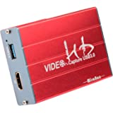 Mirabox Capture Card,USB 3.0 HDMI Game Capture Card Device Support HD Video HDCP 1080P Windows 7 8 10 Linux YouTube OBS Twitc