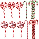 Jmkcoz Christmas Plastic Candy Cane Lollipop Ornament, 30 Pcs Christmas Tree Hanging Decoration Twisted Toy Crutch Candy Cane