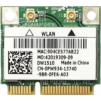 Dell Wireless WLAN 1510 DW1510 内蔵ワイヤレスLAN Half-Miniカード (300Mbps 802.11a/b/g/n対応) BCM94322HM8L/BCM4322
