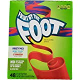Fruit By The Foot Fruit Flavored Snacks, Berry Tie-Dye and Strawberry Variety Pack (48 Rolls, 21 Grams Each)