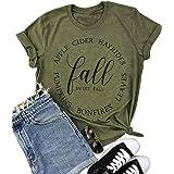 Fall T Shirts Women Funny Pumpkin Tee Tops Short Sleeve Graphic Tees Casual Happy Fall Shirts Blouse Top