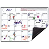 Magnetic Calendar Planner for Fridge 40x30cm, Reusable Monthly Fridge Calendar, Undated Planning Board Pad, Dry Erase with Wa