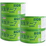 【Amazon 限定ブランド】ADHES 養生テープ 緑 ガムテープ はがせる 緑 台風 窓ガラス用 50mmⅹ25m 5巻入り (YB16-弱粘着)