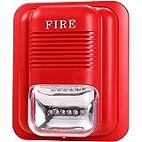 UHPPOTE Sound and Light Fire Alarm Warning Strobe Siren Horn Alert Safety System Sensor