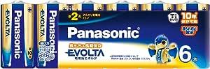 パナソニック アルカリ乾電池 エボルタ単2形6本パック LR14EJ/6SW