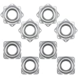 Fasmov 8 Pack 3-Inch Lazy Susan Turntable Bearings Rotating Bearing Plate, 5/16 Inch Thick