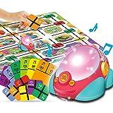 GILOBABY プログラミング おもちゃ ロボット おもちゃ 車 おもちゃ 音と光で パズル 楽器 ピアノおもちゃ 3モードプログラミング早期教育 ルートを設定 創造的なレースゲーム 歌を演奏する 家族ゲーム カードゲーム 知育玩具 5歳以上 おも