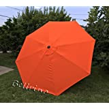 BELLRINO DECOR Replacement Strong Thick Umbrella Canopy 9ft 8 Ribs (Canopy Only) (Tango Orange)