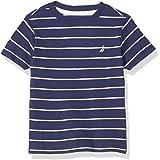 NAUTICA Boys' Short Sleeve Striped Crew Neck T-Shirt