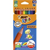 BIC 9078322 Kids Evolution Colouring Pencils - Assorted Colours, Pack of 12