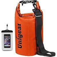 Unigear ドライバッグ 防水バッグ 防水ポーチ付き ドラム型 新型素材 防水 防塵 9色 6サイズ 2L 5L 1…