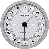 エンペックス気象計 温度湿度計 スーパーEX 温湿度計 壁掛け用 日本製 シャインシルバー EX-2747