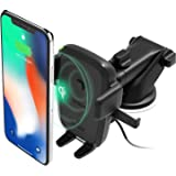 iOttie Easy One Touch Wireless Qi Fast Charge Car Mount Kit || Fast Charge: Samsung Galaxy S10 S9 Plus S8 S7 Edge Note 8 5 |