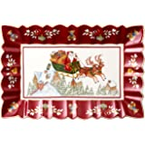 """Villeroy & Boch – Toy's Fantasy Cake Plate: """"Sleigh Ride"""", Serving Plate Made from Premium Porcelain, Rectangular, Multicolou"""