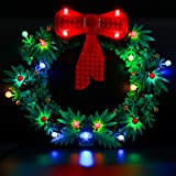 BRIKSMAX Led Lighting Kit for Christmas Wreath 2-in-1 - Compatible with Lego 40426 Building Blocks Model- Not Include The Leg